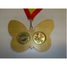 Puidust medal Liblikas MPU33