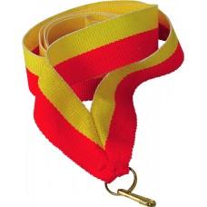 Medalipael punane-kollane, 22 mm